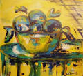 Yellow Still Life  Canvas by Sarrias Cruxent