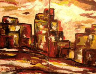 Urban in Russet (diptych) by Sarrias Cruxent