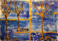 Pair of Blue Trees by Sarrias Cruxent