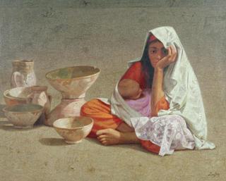 Motherhood with Ceramics by Félix Beristain