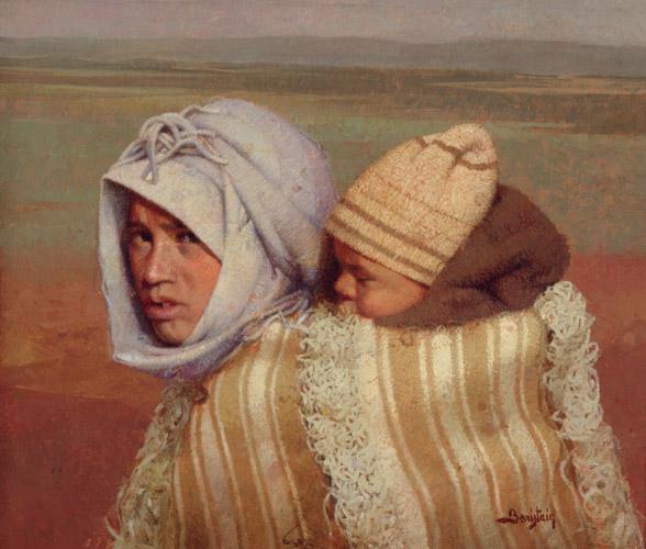Motherhood in Ochers by Félix Beristain