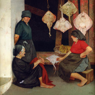Fisherwomen from Nazaret with Rays by Félix Beristain