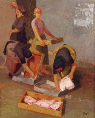 Fisherwomen with Rays by Félix Beristain