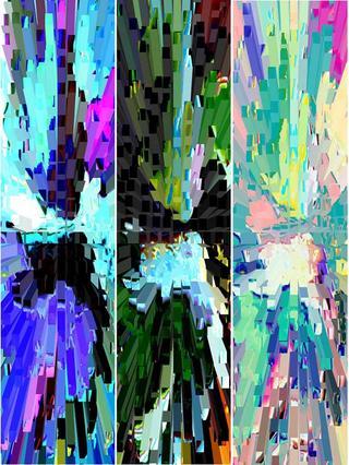 Reflections I (Triptych) by Cris Orfescu