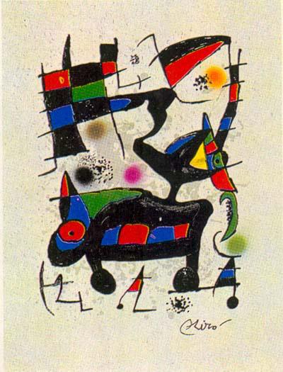 Oda A Joan Miro Original Art By Joan Mir 243 Picassomio