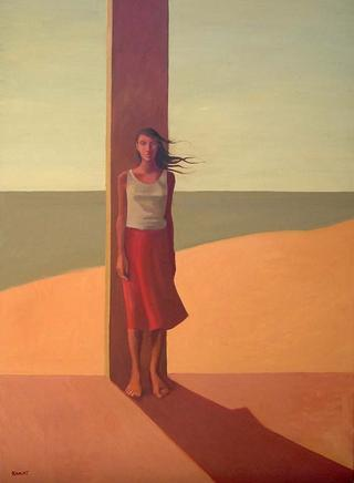 Woman at Beach by Manuel José Ramat