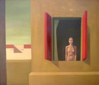 Woman with Window by Manuel José Ramat