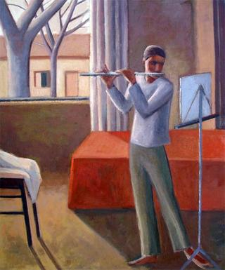 Flautist by Manuel José Ramat