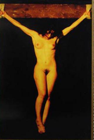 Christ in Cross by Carlota Figueras