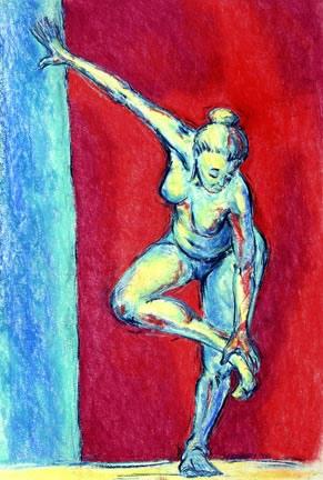Blue Bather by Ellen Woodbury