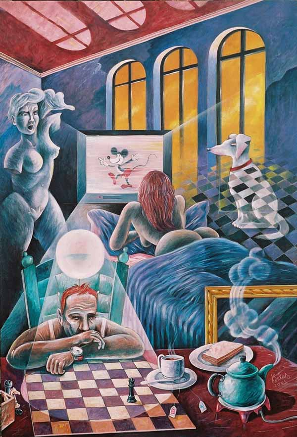 The Blue Room by Jorge Salas Ampuero