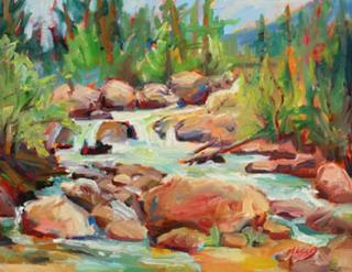 Rocky Mountain Rivery by Marie Massey