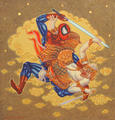 Hanuman vs Spiderman by Jirapat Tatsanasomboon