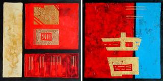 What if...? (Diptych) by Jane Rusin
