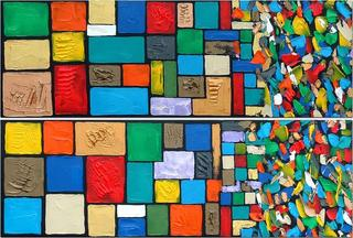 Order & Disorder (Diptych) by Jane Rusin