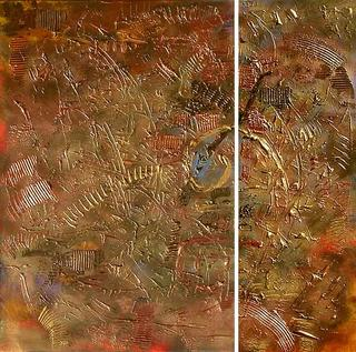 24K (Diptych) by Jane Rusin