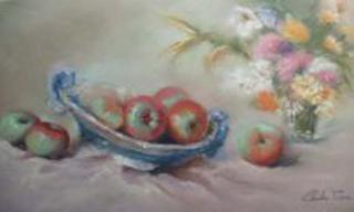 Still Life with Apples by Condés Pizarro
