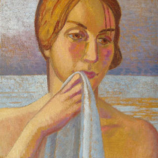 Head of bather by John Reay
