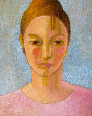 Head of Girl in Pink by John Reay