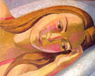 Sue Resting,Study by John Reay