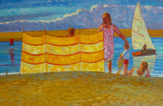 Windbreak and Parasol, 2 by John Reay