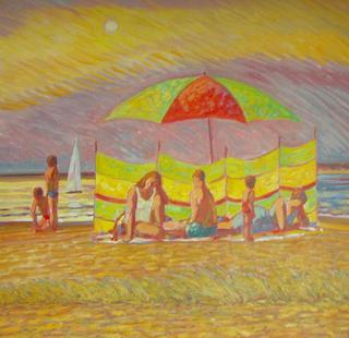 Windbreak and Parasol, 3 by John Reay