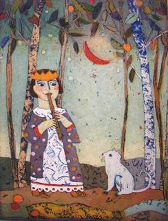 Kleine Flotenspielerin (Little Flute Player) by Jutta Votteler
