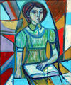 Untitled (Reading Girl) by Irving Amen