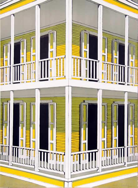 Yellow House by Emilio Sanchez