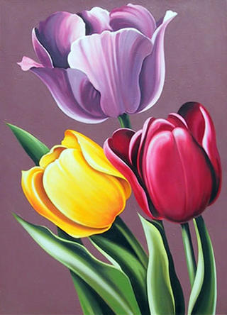 Tulipa Hybrida by Lowell Nesbitt