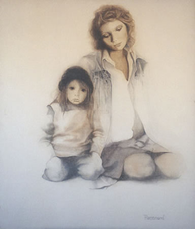 Black And White Paintings Of People