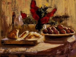 Still Life with Fruit and Flowers by Antonio Abad