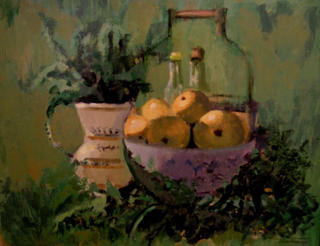 Still Life in Greens by Antonio Abad