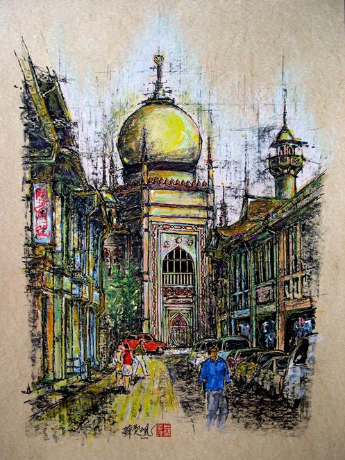 Sultan Mosque by Soo Sheng Lih