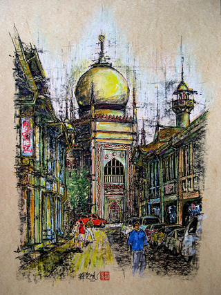 Sultan Mosque by Soo Sheng Lih