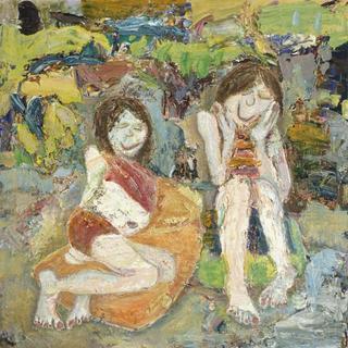 Esme and BJ Sunbathing by Joanne Hodgen