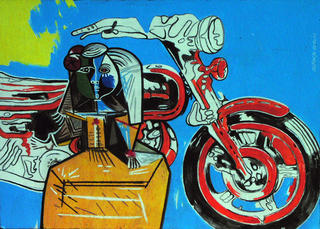 The Motorbike Girl by Alfonso Cerdán