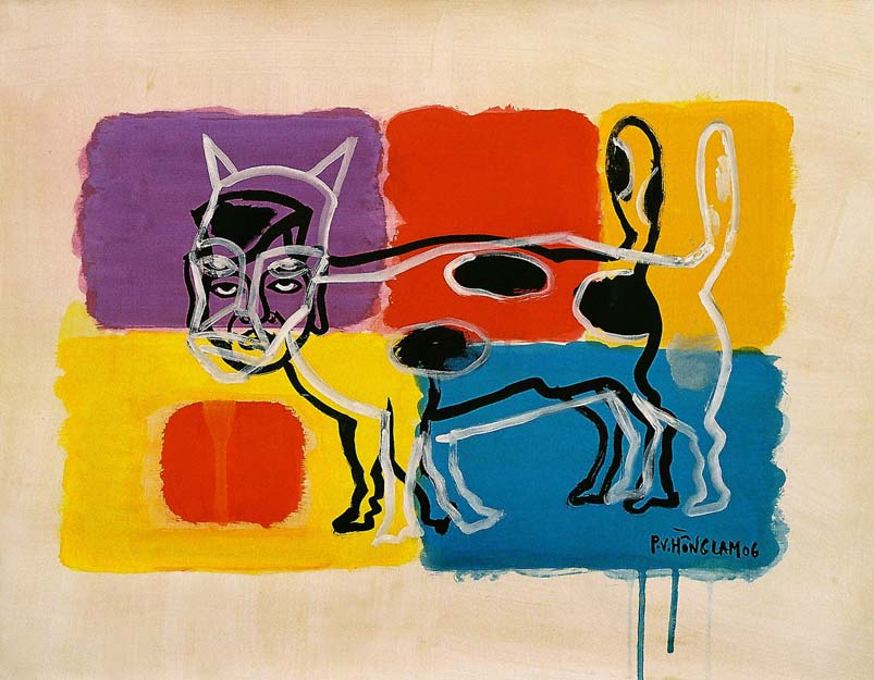 Dog Year. Artist is 60 Years Old by Pham Viet Hong Lam