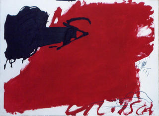 Gran Taca Roja (Negre i Roig Series) by Antoni Tàpies