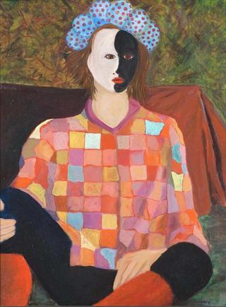 Harlequin with Hat by Juan Dalmau Gallarza