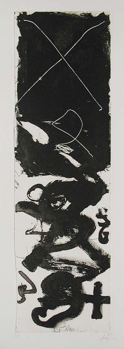 Lettres B by Antoni Tàpies