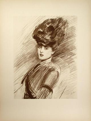 Portrait of Ellin , the artists daughter by Paul César Helleu