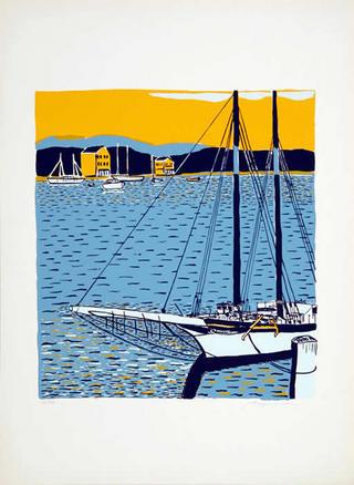 North American Harbor Scene by Biagio Civale