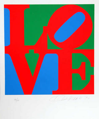 The Book of Love 7 by Robert Indiana