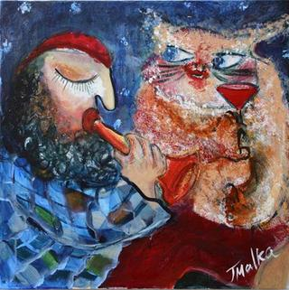 A Duet with a Cat by Malka Tsentsiper