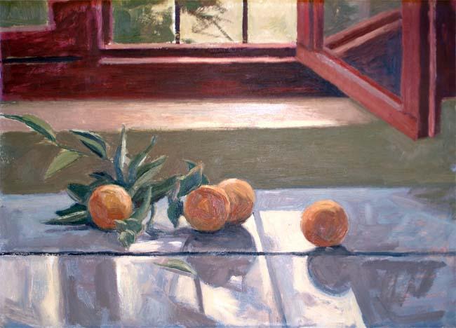 Oranges with Window by Manuel José Ramat