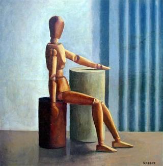 Wood Boy Doll by Manuel José Ramat
