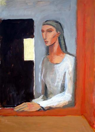 Woman Looking by Manuel José Ramat