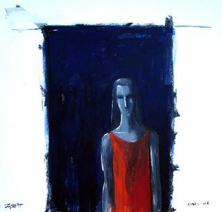 Woman with Red Dress by Manuel José Ramat