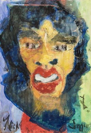 Jagger Portrait by Juan Dalmau Gallarza